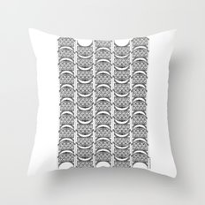 Brooklyn Williamsburgh Savings Bank Archidoodle by the Downtown Doodler Throw Pillow
