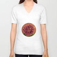 dahlia V-neck T-shirts featuring Dahlia  by maggs326