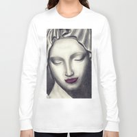 madonna Long Sleeve T-shirts featuring Michelangelo Madonna  by augusta marya