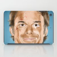 dexter iPad Cases featuring Dexter by Thousand Lines Ink