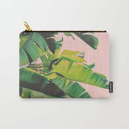 Palm Tree Leaves III (Pink) Carry-All Pouch