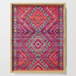 Pink Lovely Heritage Traditional Moroccan Style Fabric Design Serving Tray