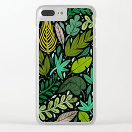 Green Scatter Clear iPhone Case