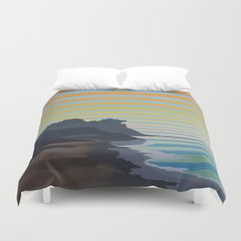 Central California Coast Sunrise Landscape Duvet Cover