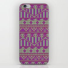 Multicolor Aztec pattern iPhone & iPod Skin