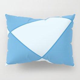 Geometric abstract - blue. Pillow Sham