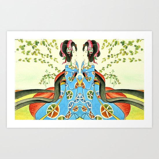 Psychedelic Love Art Print