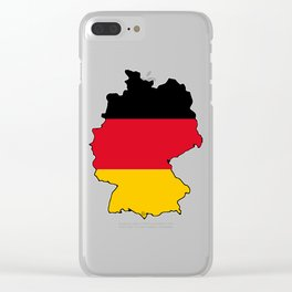 Germany Map with German Flag Clear iPhone Case