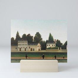 Landscape and Four Fisherman, Henri Rousseau Mini Art Print