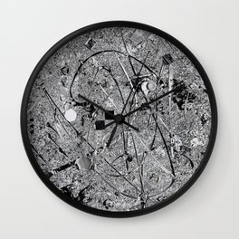 Power of Silver Wall Clock