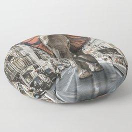 Lost Butterphant in NYC Floor Pillow