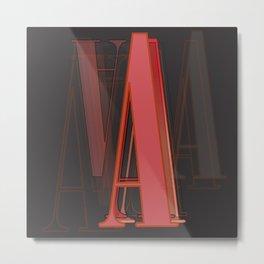 Typography: A  Onyx  Metal Print