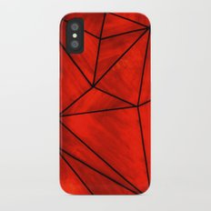 Modern Abstract Triangle Pattern iPhone X Slim Case