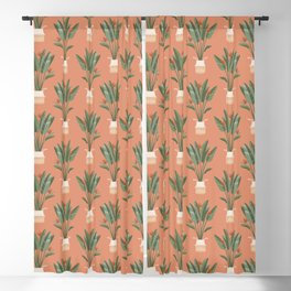 Bird of paradise in a basket pot Blackout Curtain
