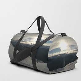 On the mountains, me and the sun, between the clouds Duffle Bag