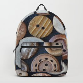 Wooden Buttons Backpack