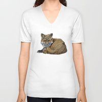 kit king V-neck T-shirts featuring Fox Kit by ZHField