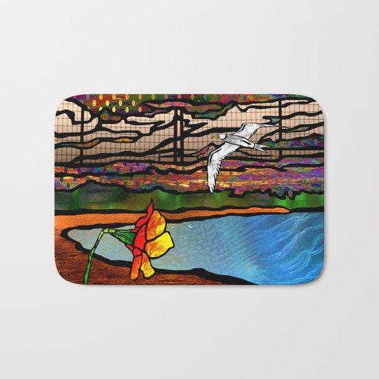 Doodlage 01 - As the seagull flies Bath Mat