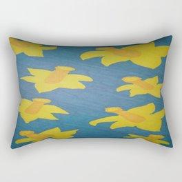 Pop Art Daffodils Rectangular Pillow