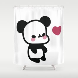 Kawaii Panda Bear - Cute Panda Bear Shower Curtain