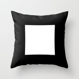White Square Throw Pillow