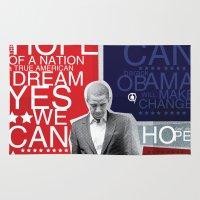 obama Area & Throw Rugs featuring Barack Obama by kaseysmithcs