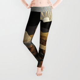 Copper and Gold Mountains Leggings