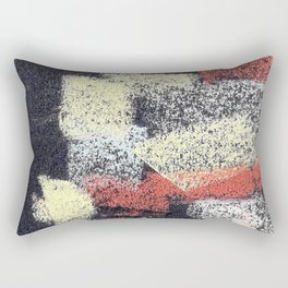 Multicolor abstract black Rectangular Pillow