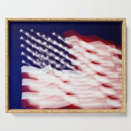 Abstract This Is America Serving Tray