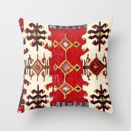 Burdur  Antique South West Anatolia Turkish Kilim Print Throw Pillow