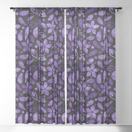 LOVELY FLORAL PATTERN #4 Sheer Curtain