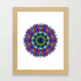 pastel fractal mandala Framed Art Print