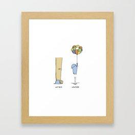 SIN JEFE Framed Art Print