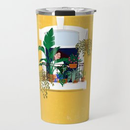 Lisbon girl Travel Mug