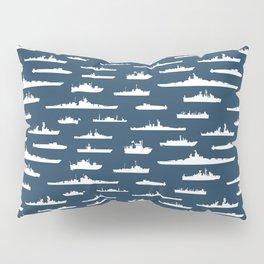 Battleship // Navy Blue Pillow Sham