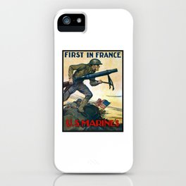 US Marines -- First In France iPhone Case