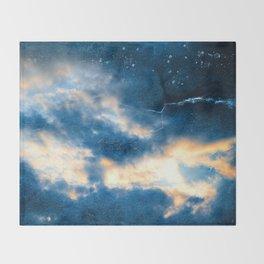 Celestial Grunge Clouds Throw Blanket