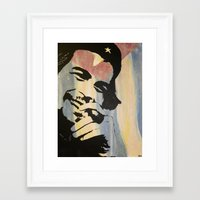 che Framed Art Prints featuring Che. by Minx Paints