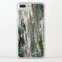 Moss covered tree Clear iPhone Case