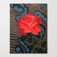 Comic Rose Canvas Print