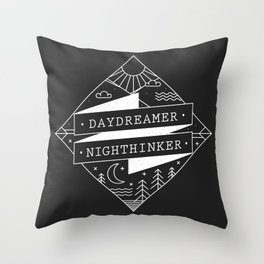daydreamer nighthinker Throw Pillow