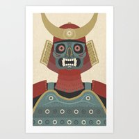 samurai Art Prints featuring Samurai by James White