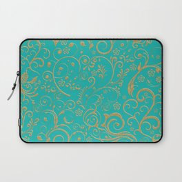 Gold and turquoise Laptop Sleeve