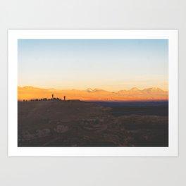 Sunset over the Atacama Desert, Chile Art Print