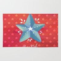 starfish Area & Throw Rugs featuring Starfish by Anoosha Syed
