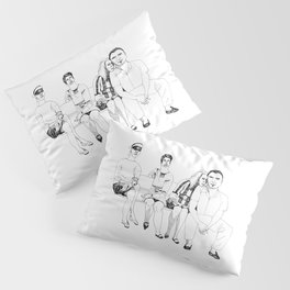 summer day on the bench Pillow Sham
