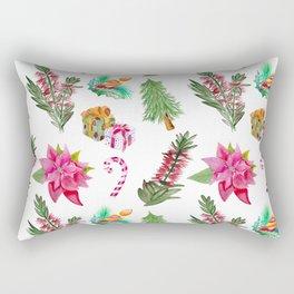 Christmas Pattern with Australian Native Bottlebrush Flowers Rectangular Pillow