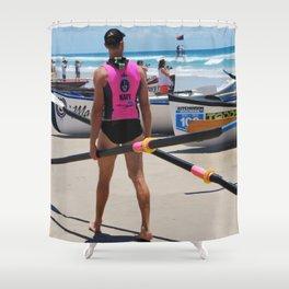 Lifeguard Hut Number 12 Shower Curtain