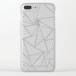 Ab Out Double Pink and Grey Clear iPhone Case