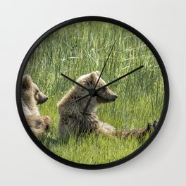 Unbearably Cute - Bear Cubs, No. 5 Wall Clock